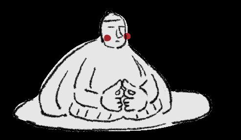 万治の石仏のイラスト